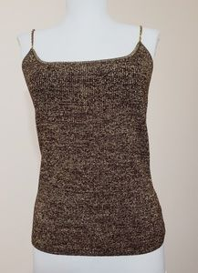 Metallic gold/brown tank with chain straps